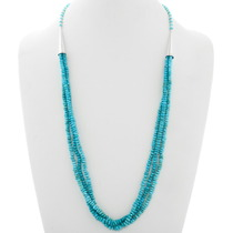 Navajo Natural Turquoise Necklace 39870