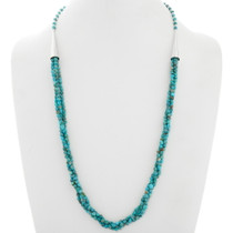 Navajo Natural Turquoise Three Strand Necklace 39871