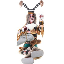 Vintage Pueblo Clown Kachina Doll 39830