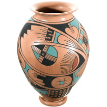Mata Ortiz Polychrome Olla Pottery 39879
