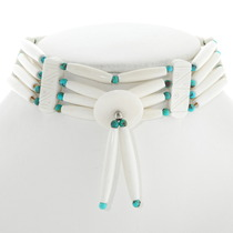 Navajo Turquoise Tribal Bone Choker