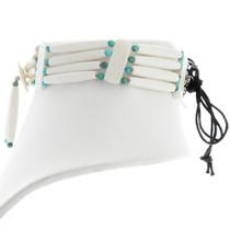 Turquoise Bead Bone Choker 39888