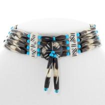 Navajo Indian Turquoise Bone Choker 39889