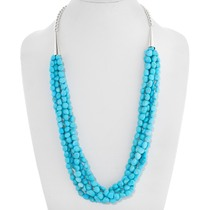 Natural Turquoise Beaded Necklace 39893