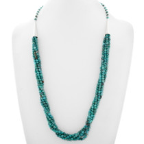 Five Strand Beaded Turquoise Necklace 39894