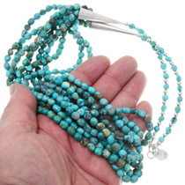 Navajo Beaded Arizona Turquoise Necklace 39896