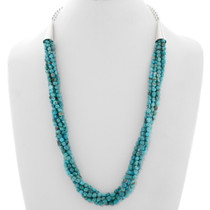 Navajo Natural Turquoise Five Strand Necklace 39897