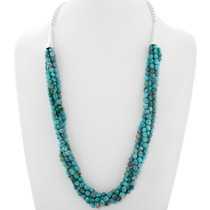 Native American Beaded Turquoise Necklace 39899