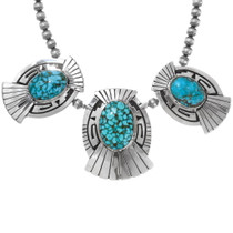 Silver Overlay Navajo Design Natural Spiderweb Turquoise 30011