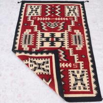 Navajo Storm Pattern Design Wool Rug 39909