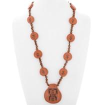 Vintage Hopi Corn Pottery Necklace 39887
