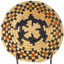 Hand Woven Polychrome Turtle Design Hopi Basket 39917