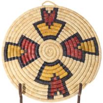 Vintage 1980s Hand Woven Hopi Wall Basket 39924
