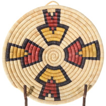 Hopi Coiled Wall Plaque Tray Basket 39924
