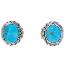 Navajo Turquoise Silver Post Earrings 39926