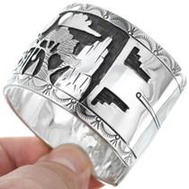 Detailed Navajo Storyteller Bracelet 39928