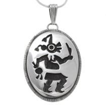 Sterling Silver Mudhead Kachina Pendant 39941