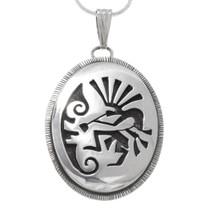 Sterling Silver Navajo Kokopelli Pendant 39942