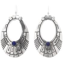 Sterling Silver Lapis Navajo Earrings 39952