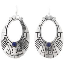 Sterling Silver Lapis Navajo Earrings 39952