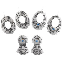 Sterling Silver Navajo Earrings 39969