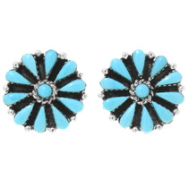 Sleeping Beauty Turquoise Silver Post Earrings 39979