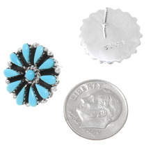 Southwest Turquoise Cluster Earrings 39979