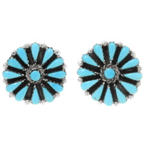 Sleeping Beauty Turquoise Silver Earrings 39981