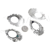 Authentic Rose Tommy Singer Navajo Silver Earrings Signed 39982