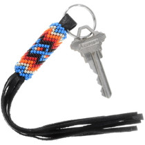 Native American Hand Beaded Key Ring 39988