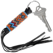 Navajo Hand Beaded Key Ring 39989