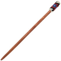 Navajo Hand Beaded Wooden Hair Stick 39990