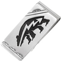 Sterling Silver Heartline Bear Money Clip 39995