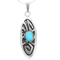 Sterling Silver Turquoise Native American Pendant 40002
