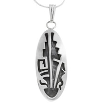Native American Geometric Design Sterling Silver Pendant 40009
