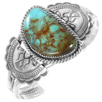 Native American Turquoise Silver Bracelet 40014