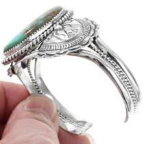 Large Number 8 Turquoise Navajo Bracelet 40014