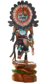 Hand Carved All Cottonwood Sunface Kachina 40021