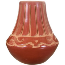 Carved Native American Santa Clara Pottery 40022