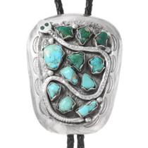 Vintage Effie Calavaza Turquoise Bolo Tie 40028