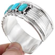 Sterling Silver Arizona Turquoise Cuff Bracelet 40030