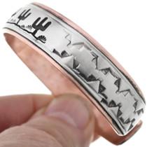 Copper Silver Navajo Bracelet 40031