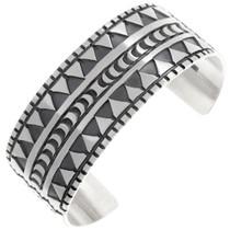Sterling Silver Navajo Pattern Cuff Bracelet 40033