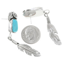 Navajo Turquoise Dangle Earrings 40039