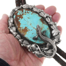 Large Number 8 Turquoise Bolo Tie 40042