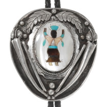 Old Pawn Native American Kachina Bolo Tie 40054