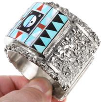 Zuni Sunface Symbol Turquoise Inlay Bracelet 40060