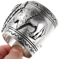 Early Original Navajo Tommy Singer Sterling Silver Bracelet 40067