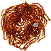 High Grade Rounded Amber Nugget Bead Strand 37104