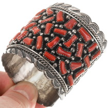 Full Size Native American Red Coral Bracelet 40080 40080